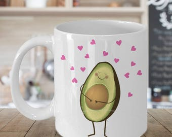 Cute Joke Avocado Baby Bump Coffee Mug ;Taza embarazo aguacate