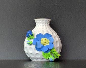 "4"" light blue decorative vase"