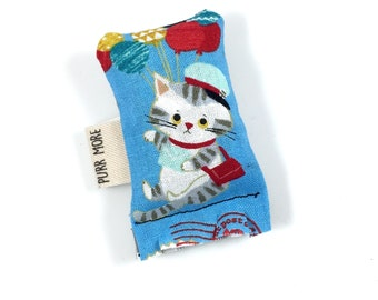 Cat And Balloons Green Bean Organic Eco Friendly Catnip Cat Toy For Mew
