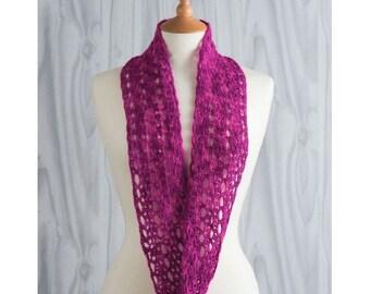 Lacy Infinity Scarf Crochet Pattern Download (803960)