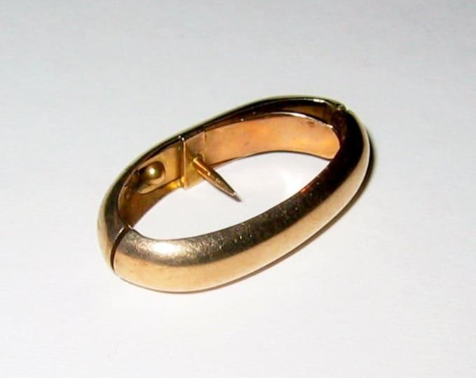 "Vintage: 10K Solid Yellow Gold... ""Plain Design""......Scarf Clip !"