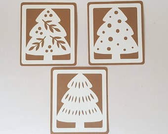 """The 3 """"Trees"""" cards for your vows with their envelopes"""