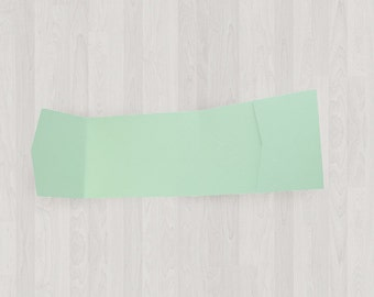 10 Panorama Pocket Enclosures - Mint & Light Green - DIY Invitations - Invitation Enclosures for Weddings and Other Events