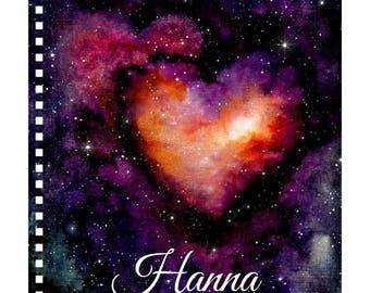 Galaxy Book, Spiral Notebook, Writing Book, Galaxy Gift, Galaxy Gifts, Writing Gifts, Space Galaxy, Writing Notebook, Space Book, Space Gift