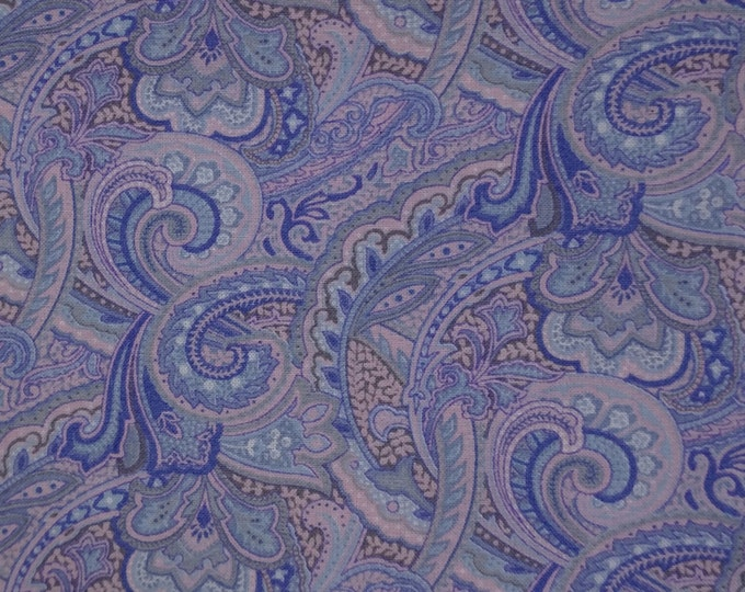 Blue and Pink Paisley Stock tie