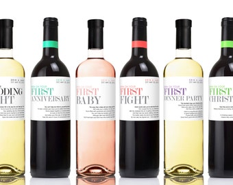Milestone wine label Etsy