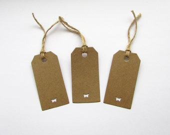 10 Butterfly Gift Tags, Gifts, Wedding, Presents, Natural, Special, Handmade, Free postage to UK