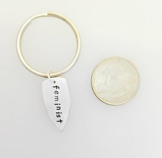 Feminist Arrowhead Keychain-Arrow keychain-Feminist Gift-Girl Gang Gift-Vegan Gift-Vegan Keychain-Vegan Jewelry-Feminist jewelry-Birthday