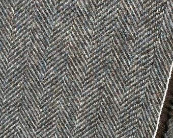 Gray Herringbone Wool Yardage