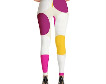 Circles Polyester and Spandex Leggings