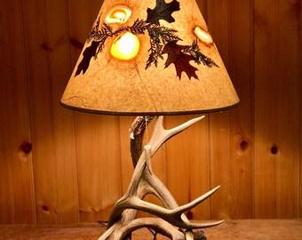 Real Deer Antler Table Lamp Set
