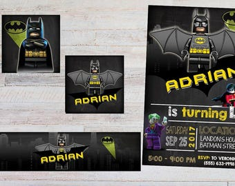 18 lego batman invitation also  tags label party birthday english or spanish