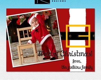 Santa Christmas photo card - printable download