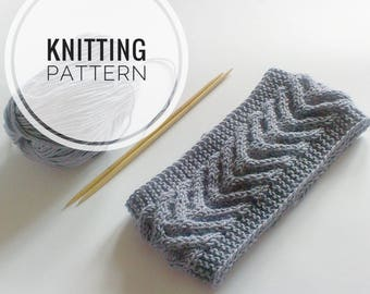 Knitting PATTERN Headband Knitting instruction Knitting Tutorial PDF Knit Headband Pattern Cable Knit Pattern Instant Download PDF Earwarmer