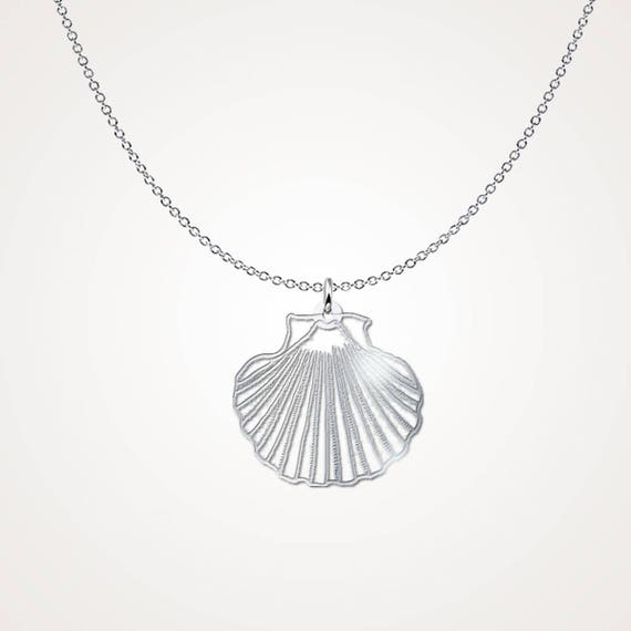 Seashell pendant necklace shell necklace 925 sterling aloadofball Gallery