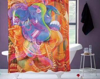 Hindu Elephant Shower Curtain
