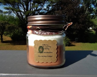 8oz 100% Soy Candle in PUMPKIN MARSHMALLOWS scent. Natural. Long Burning. Eco Friendly.