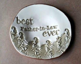 Ceramic Trinket Dish  Coin Dish Key Holder Dish Father In Law