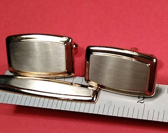 Vintage, Cuff Links And Tie Bar By Hickok. Gently Used. Lot V