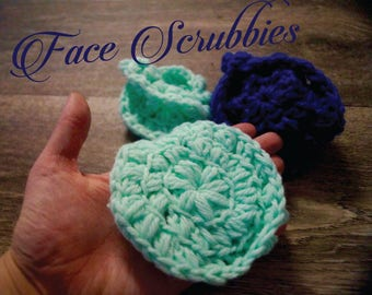 3 Face Scrubbies