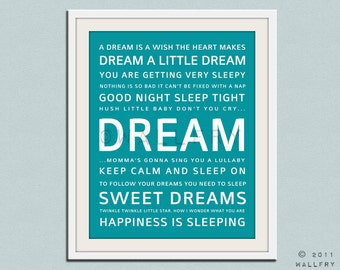 Baby nursery decor. Art for children typography art for kids. Dream quote print, Nursery wall quotes. Nursery quotes. Cliche print