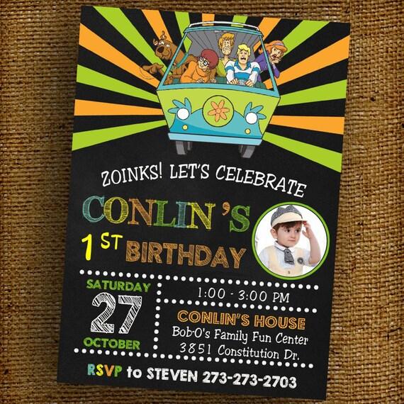 ScoobyDoo Birthday Party Invitation Digital Printable