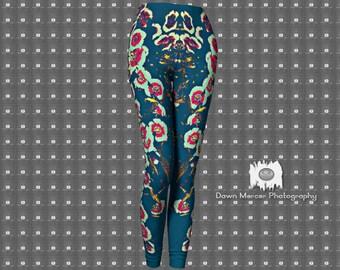 Flower Art Leggings Artsy Printed Leggings For Women FREE SHIPPING
