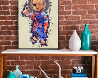 Chucky childs play art poster horror icon movie poster