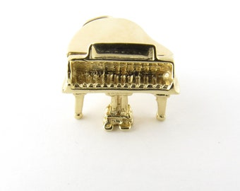 Vintage 14 Karat Yellow Gold Grand Piano Charm #3336