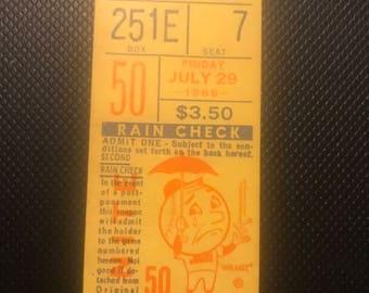 ny Mets ticket stub July/29/ 1966