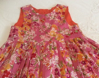 Brightly flowered summer dress