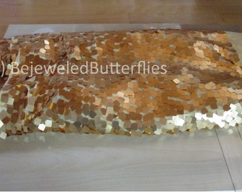 Sequin Fabric gold