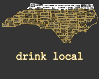 Drink Local- North Carolina Beer T-shirt