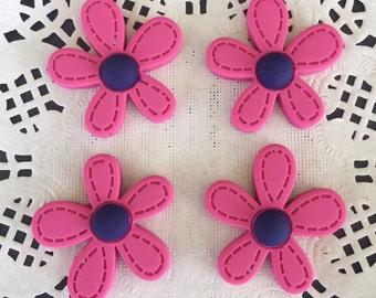 2pcs.28x29mm.Miniature Cabochon Flower,Miniature Flower,Cabochons,Miniature Sweet,Miniature Cabochon,DIY,Mobile case