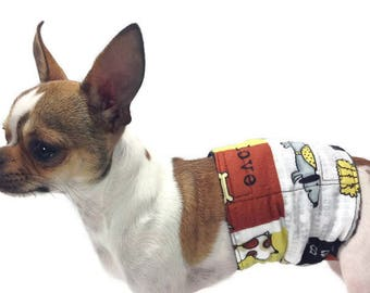 The Dog Belly Band Best Friend-Group One Dog Gallery Housebreaking Marking Training Aid Pet Supplies Paws Bones Spot Doggy Diapers