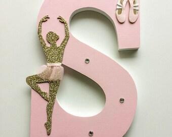 Ballet Wooden Letter, Dance Theme, Girl Bedroom