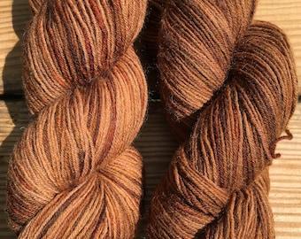 Fun in the mud- hand dyed superwash wool sock yarn