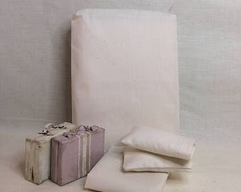 Shabby Chic Handmade Miniature Dollhouse Sheet Set for 1:12th Scale Double/Queen - Natural Muslin