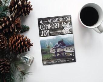 Rustic Photo Christmas Card - Photo Christmas card - christmas card - holiday card - photo holiday card - photo card  - christmas photo card