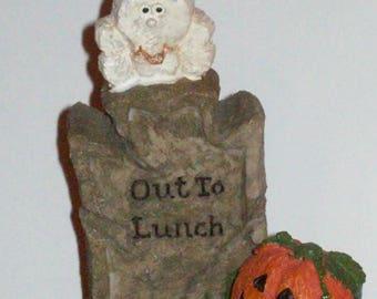 Halloween Gravestone Figurine! ~ From a Smoke-Free Shop
