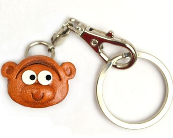 Monkey Leather Animal Figuine/Charm Chinese Zodiac Series/Custom/Keychain/Key fob/Keyring *VANCA* Made in Japan #26306 Free Shippin