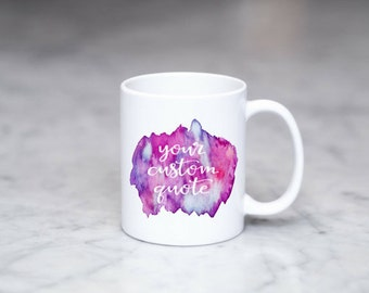 custom mug, custom mugs, custom watercolor mug, custom coffee mug, personalized mug, watercolor mug, design your own mug, custom coffee cup