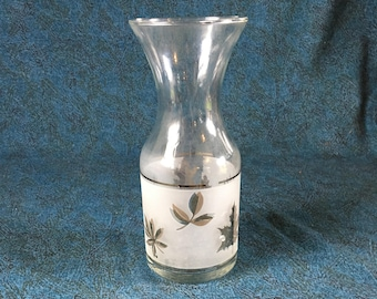 Vintage Silver Foliage 16 Ounce Open Carafe from Libbey Rock Sharpe