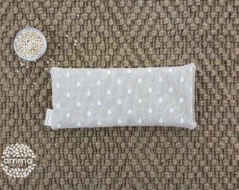 Repose-yeux à la lavande   Masque de méditation & Relaxation   Savasana   Fleur de lavande séchée   Migraines  sinusite   Goutte pluie blanc