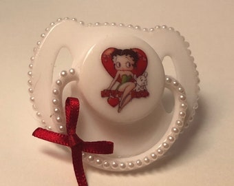 Betty Boop magnetic reborn doll dummy pacifier
