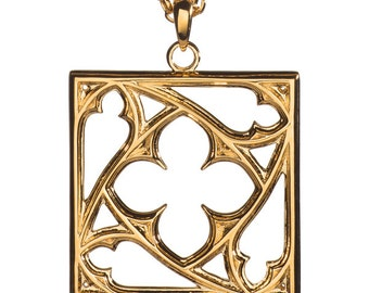 Square Tracery Necklace