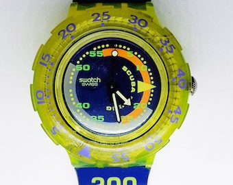 COMING TIDE Watch Scuba Swatch Collection| Swatch olimpic| Limited Edition Swatch Watch| Transparent Watch| Swatch Collector|