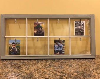 Vintage Wooden Window Picture Frame