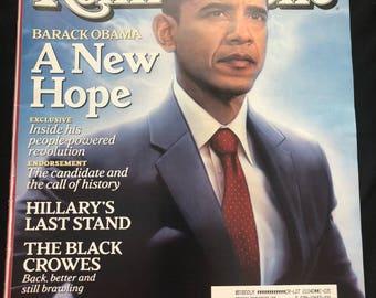2008 Rolling Stone- Barack Obama