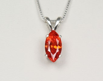 Fire opal necklace etsy mexican fire opal necklace pendant sterling silver aloadofball Image collections